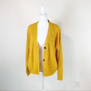 Splendid women cable knit, ribbed cardigan